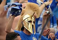 FUSSBALL  EUROPAMEISTERSCHAFT 2012   VORRUNDE Polen - Griechenland      08.06.2012 Griechischer Fan