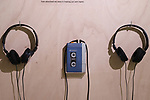"""July 1, 2019, Tokyo, Japan - The first model of Sony's portable audio player """"Walkman TPS-L2"""" is displayed at the Ginza Sony Park in Tokyo for an exhibition to celebrate Walkman's 40th anniversary """"Walkman in the Park"""" which will be carried through September 1 on Monday, July 1, 2019. The first Walkman TPS-L2, portable stereo cassette player was born in July 1, 1979.    (Photo by Yoshio Tsunoda/AFLO)"""