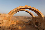 Israel, Negev. Ruins of Avdat, built in the 1st century by the Nabateans. A world Heritage Site as part of the Spice Route