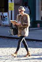 www.acepixs.com<br /> <br /> January 30 2017, New York City<br /> <br /> Socialite Nicky Hilton Rothschild wears a short fur jacket as she walks around her East Village neighborhood on January 30 2017 in New York City<br /> <br /> By Line: Zelig Shaul/ACE Pictures<br /> <br /> <br /> ACE Pictures Inc<br /> Tel: 6467670430<br /> Email: info@acepixs.com<br /> www.acepixs.com