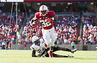 Stanford, California, 09-21-2013: Stanford's  Anthony Wilkerson during the Stanford vs ASU football game at Stanford Stadium on Saturday.