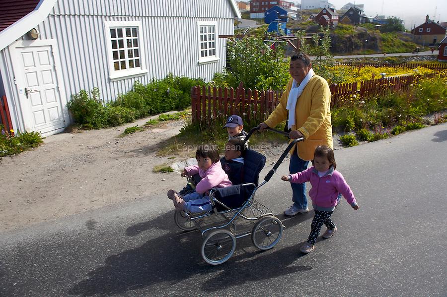 village de Qaqortoq fondé par Erik Le rouge