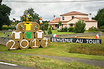 Roadside decorations during Stage 11 of the 104th edition of the Tour de France 2017, running 203.5km from Eymet to Pau, France. 12th July 2017.<br /> Picture: ASO/Bruno Bade | Cyclefile<br /> <br /> <br /> All photos usage must carry mandatory copyright credit (&copy; Cyclefile | ASO/Bruno Bade)