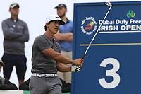Thorbjorn Olesen (DEN) tees off the 3rd tee during Saturday's Round 3 of the 2018 Dubai Duty Free Irish Open, held at Ballyliffin Golf Club, Ireland. 7th July 2018.<br /> Picture: Eoin Clarke | Golffile<br /> <br /> <br /> All photos usage must carry mandatory copyright credit (&copy; Golffile | Eoin Clarke)