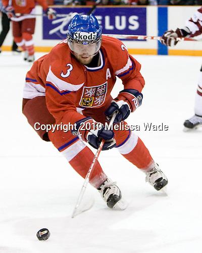 Radko Gudas (Czech Republic - 3) - Team Czech Republic defeated Team Latvia 10-2 on Sunday, January 3, 2010 in relegation play at Credit Union Centre in Saskatoon, Saskatchewan during the 2010 World Juniors tournament.