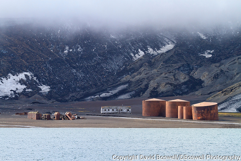 The remains at Whalers Bay are remnants of the bygone whaling era at the abandoned Norwegian whaling base  on Deception Island, in the South Shetland Islands near the Antarctic Peninsula.