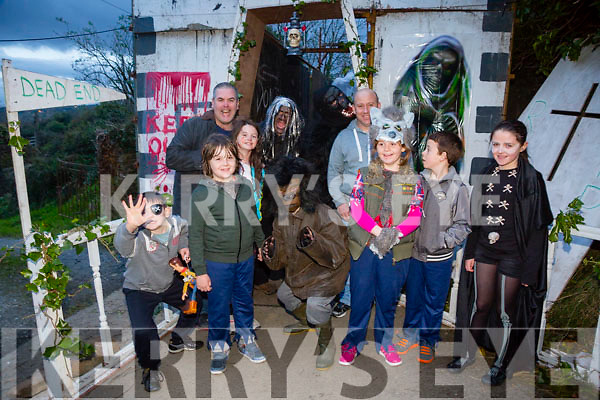 Pictured at the Halloween Festival in Knocknagoshel on Sunday night were Front l-r  Danny Walsh, Katie Walsh, Blake Sheehy, Owen McSweeney, Sarah Hartnett, Matthew Hartnett and  Ella Murphy. Back l-r  Danny Walsh and Richard Murphy.