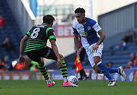 Blackburn Rovers' Derrick Williams in action during todays match with Doncaster Rovers' Niall Mason<br /> <br /> Photographer Rachel Holborn/CameraSport<br /> <br /> The EFL Sky Bet League One - Blackburn Rovers v Doncaster Rovers - Saturday August 12th 2017 - Ewood Park - Blackburn<br /> <br /> World Copyright &copy; 2017 CameraSport. All rights reserved. 43 Linden Ave. Countesthorpe. Leicester. England. LE8 5PG - Tel: +44 (0) 116 277 4147 - admin@camerasport.com - www.camerasport.com
