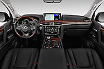 Stock photo of straight dashboard view of 2017 Lexus LX 570 5 Door SUV Dashboard
