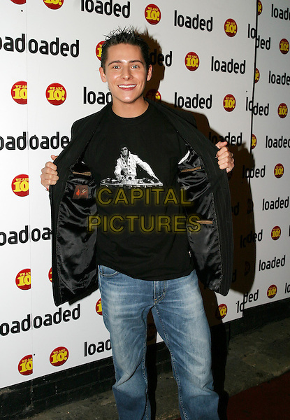 CHRIS PARKER.Loaded - 10th birthday awards ceremony & party at Rouge nightclub.7 April 2004.flashing, elvis t-shirt.www.capitalpictures.com.sales@capitalpictures.com.© Capital Pictures.
