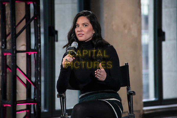NEW YORK, NY - JANUARY 14:  Olivia Munn at AOL's Build Speaker Series promoting her new film, Mortdecai at AOL Studios In New York City in January 14, 2015. <br /> CAP/MPI/MPI99<br /> &copy;MPI99/MPI/Capital Pictures