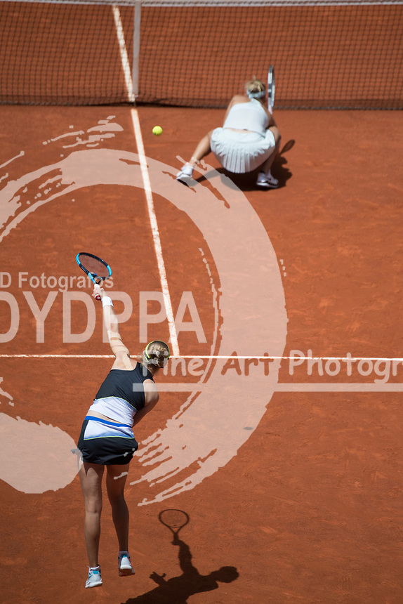 katerina Makarova/ Elena Vesnina win the final against Timea Babos/ Kristina Mladenovic during theMutua Madrid Open tennis match, Master 1000 at Caja Magica in Madrid on May 12, 2018.