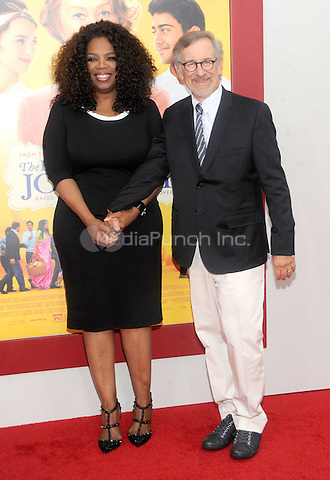 New York, NY- August 4: Oprah Winfrey and Steven Spielberg attends the world premiere of Dreamworks pictures' 'The Hundred-Foot Journey' on August 4, 2014 at the Ziegfeld Theater in New York City. Credit: John Palmer/MediaPunch