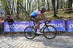 Silvan Dillier (SUI) AG2R La Mondiale on the the first ascent of the Kemmelberg during the 2019 Gent-Wevelgem in Flanders Fields running 252km from Deinze to Wevelgem, Belgium. 31st March 2019.<br /> Picture: Eoin Clarke | Cyclefile<br /> <br /> All photos usage must carry mandatory copyright credit (© Cyclefile | Eoin Clarke)