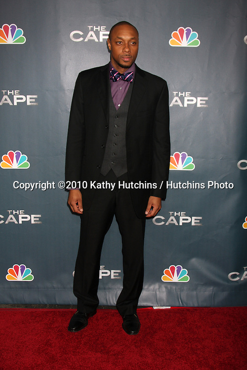 """LOS ANGELES - JAN 4:  Dorian Missick arrives at """"The Cape"""" Premiere Party at Music Box Theater on January 4, 2011 in Los Angeles, CA."""