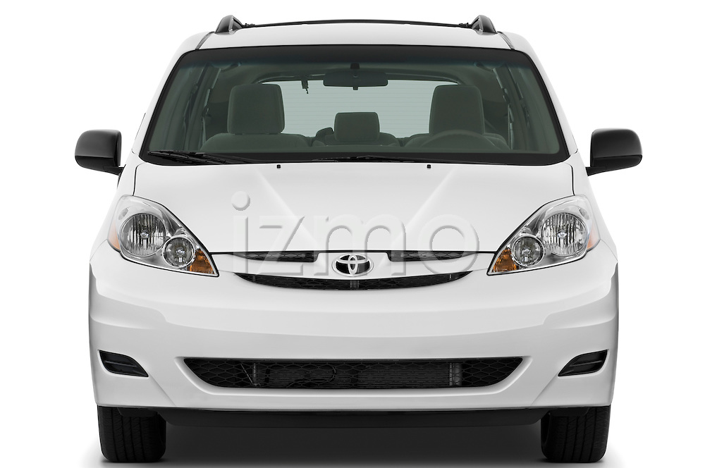 Straight front view of a 2010 Toyota Sienna CE 8 Passenger