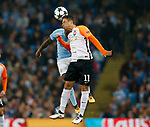Fabian Delph of Manchester City challenges Marlos of Shaktar Donetsk during the Champions League Group F match at the Emirates Stadium, Manchester. Picture date: September 26th 2017. Picture credit should read: Andrew Yates/Sportimage