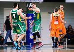 S&ouml;dert&auml;lje 2014-10-01 Basket Basketligan S&ouml;dert&auml;lje Kings - Norrk&ouml;ping Dolphins :  <br /> S&ouml;dert&auml;lje Kings Carl Engstr&ouml;m gratuleras av Toni Bizaca efter ett av sina po&auml;ng i matchen<br /> (Foto: Kenta J&ouml;nsson) Nyckelord:  S&ouml;dert&auml;lje Kings SBBK T&auml;ljehallen Norrk&ouml;ping Dolphins jubel gl&auml;dje lycka glad happy