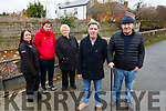 Casements Ave residents with the problem on the river on Monday which is causing concert to them. <br /> Front  Danny McElligott and Michael Doran. <br /> Back l-r, Susan Houlihan, Carmel Roche and Diane O&rsquo;Shea.