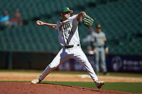 Baylor Bears relief pitcher Luke Boyd (41) in action against the Missouri Tigers in game one of the 2020 Shriners Hospitals for Children College Classic at Minute Maid Park on February 28, 2020 in Houston, Texas. The Bears defeated the Tigers 4-2. (Brian Westerholt/Four Seam Images)