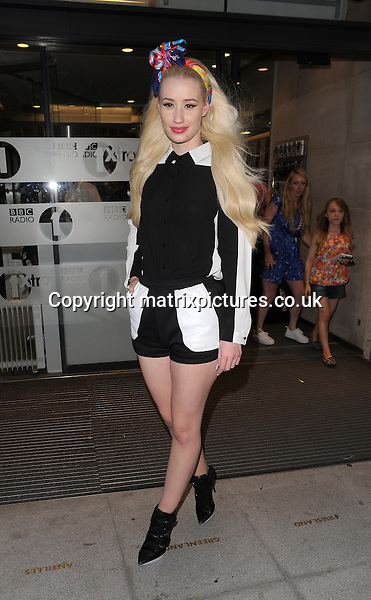 NON EXCLUSIVE PICTURE: PALACE LEE / MATRIXPICTURES.CO.UK<br /> PLEASE CREDIT ALL USES<br /> <br /> WORLD RIGHTS<br /> <br /> Australian hip hop rap star Iggy Azalea is spotted leaving London's BBC Radio 1 studio.<br /> <br /> JULY 8th 2013<br /> <br /> REF: LTN 134675