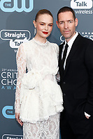 Kate Bosworth and director Michael Polish attend the 23rd Annual Critics' Choice Awards at Barker Hangar in Santa Monica, Los Angeles, USA, on 11 January 2018. Photo: Hubert Boesl - NO WIRE SERVICE - Photo: Hubert Boesl/dpa /MediaPunch ***FOR USA ONLY***