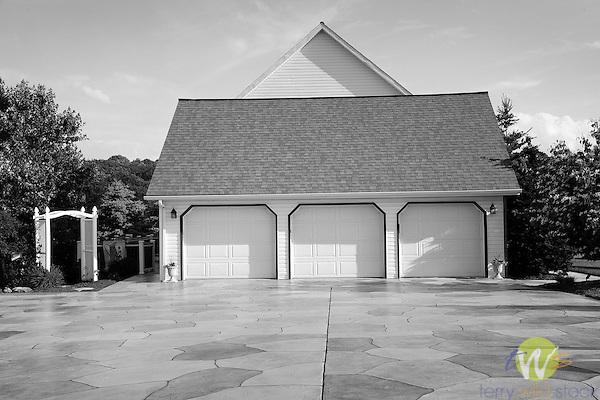 Poco Farm Estates residence.  Three car garage.
