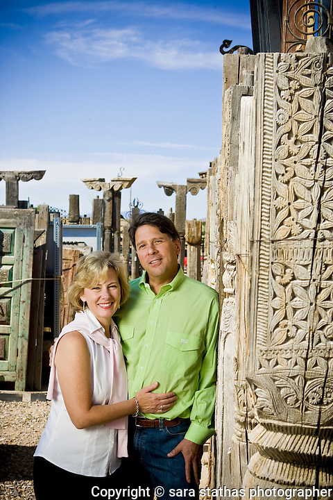 La Puerta Originals, Santa Fe, New Mexico Scott coleman, founder, and his wife