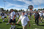 Nevada Head Coach Brian Polian walks off the field following an NCAA college football game against Southern Utah on Saturday, August 30, 2014 in Reno, Nev. (AP Photo/Cathleen Allison)