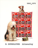 GIORDANO, CHRISTMAS ANIMALS, WEIHNACHTEN TIERE, NAVIDAD ANIMALES, paintings+++++,USGI1575,#XA# dogs,puppies