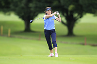 Brenda Hughes (Warrenpoint) during the final  of the Ulster Mixed Foursomes at Killymoon Golf Club, Belfast, Northern Ireland. 26/08/2017<br /> Picture: Fran Caffrey / Golffile<br /> <br /> All photo usage must carry mandatory copyright credit (&copy; Golffile | Fran Caffrey)
