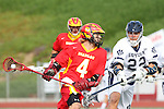 Mission Viejo, CA 05/14/11 - Colby Maxwell (Mission Viejo #4) and \l22\ in action during the Division 2 US Lacrosse / CIF Southern Section Championship game between Mission Viejo and Loyola at Redondo Union High School.