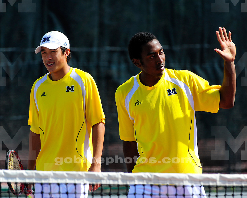 The University of Michigan men's tennis team at the NCAA Regional Championships at The Ohio State University. May 15th, & 16th, 2010.