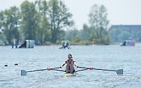 Brandenburg. GERMANY. GBR LW1X, Imogen WALSH,<br /> 2016 European Rowing Championships at the Regattastrecke Beetzsee<br /> <br /> Friday  06/05/2016<br /> <br /> [Mandatory Credit; Peter SPURRIER/Intersport-images]