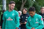 30.06.2020, Trainingsgelaende am wohninvest WESERSTADION,, Bremen, GER, 1.FBL, Werder Bremen Training, im Bild<br /> <br /> <br /> Jiri Pavlenka (Werder Bremen #01)<br /> Theodor Gebre Selassie (Werder Bremen #23)<br /> <br /> <br /> Foto © nordphoto / Kokenge