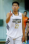 Yeung Chung Kiu #27 of Eagle Basketball Team gestures during the Hong Kong Basketball League game between Eagle and Winling at Southorn Stadium on May 4, 2018 in Hong Kong. Photo by Yu Chun Christopher Wong / Power Sport Images