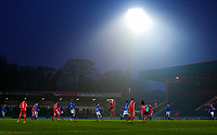 A general view of the match during the Sky Bet League 1 match between Rochdale and Walsall at Spotland Stadium, Rochdale, England on 23 December 2017. Photo by Juel Miah / PRiME Media Images.