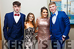 Enjoying the Castleisland Debs at Ballyroe Hotel on Friday were Stephen Murphy Rachael Brennan, Claire Kenny  and David Shanahan