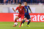 Do Hung Dung of Vietnam (L) fights for the ball with Nagatomo Yuto of Japan (R) during the AFC Asian Cup UAE 2019 Quarter Finals match between Vietnam (VIE) and Japan (JPN) at Al Maktoum Stadium on 24 January 2018 in Dubai, United Arab Emirates. Photo by Marcio Rodrigo Machado / Power Sport Images