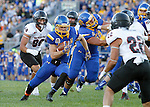 BROOKINGS, SD - SEPTEMBER 12:  Brady Mengarelli  #44 from South Dakota State scampers to the end zone past Chance Beamson #98 from Southern Utah in the first half of their game Saturday night in Brookings. (Photo by Dave Eggen/Inertia)