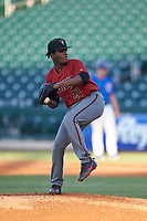 AZL Dbacks starting pitcher Junior Mieses (21) during an Arizona League game against the AZL Cubs 2 on June 25, 2019 at Sloan Park in Mesa, Arizona. AZL Cubs 2 defeated the AZL Dbacks 4-0. (Zachary Lucy/Four Seam Images)