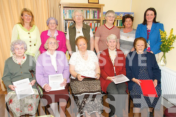 WORDSMITHS: Senior Citizens from the Ballinskelligs area who launched a book which featured their memories of life in the region over the past 80 years. The book was launched in An tIondid Lae Ballinskelligs on Thursday last..Front L/r. Eileen Sigerson, Bridget Cremin, Teresa Curran, Kitty O'Sullivan, Noreen King..Back L/r. Gerry Kennedy (KRS Course Tutor), Maureen Duinneacha, May O'Sullivan, Bernie Casey, Marguerite Brosnan (KES) and Deirdre Fitzgerald (KES).   Copyright Kerry's Eye 2008