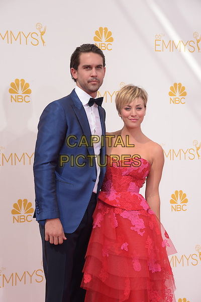 Kaley Cuoco, Ryan Sweeting attends The 66th Primetime Emmy Awards held at Nokia Live in Los Angeles, California on August 25,2014                                                                               &copy; 2014 Hollywood Press Agency<br /> CAP/DVS<br /> &copy;DVS/Capital Pictures