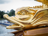 Henley Royal Regatta, Henley on Thames, Oxfordshire, 28 June - 2 July 2017.  Wednesday  11:57:31   28/06/2017  [Mandatory Credit/Intersport Images]<br /> <br /> Rowing, Henley Reach, Henley Royal Regatta.<br /> Details from The Royal Row Barge GLORIANA