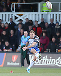 Connacht outside half Dan Park kicks a conversion.<br /> RaboPro 12<br /> Newport Gwent Dragons v Connacht<br /> Rodney Parade<br /> 23.03.14<br /> <br /> &copy;Steve Pope-SPORTINGWALES