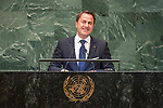 DSG meeting<br /> <br /> AM Plenary General DebateHis<br /> <br />  His Excellency Xavier BETTEL Prime Minister, Minister of State, Minister of Communication and Media and Minister of Worship of the Grand Duchy of Luxembourg