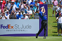 Rory McIlroy (NIR) watches his tee shot on 1 during round 1 of the WGC FedEx St. Jude Invitational, TPC Southwind, Memphis, Tennessee, USA. 7/25/2019.<br /> Picture Ken Murray / Golffile.ie<br /> <br /> All photo usage must carry mandatory copyright credit (© Golffile | Ken Murray)