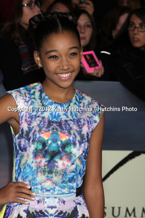 """LOS ANGELES - NOV 12:  Amandla Stenberg arrive to the 'The Twilight Saga: Breaking Dawn - Part 2"""" Premiere at Nokia Theater on November 12, 2012 in Los Angeles, CA"""