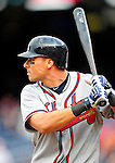 26 September 2010: Atlanta Braves outfielder Rick Ankiel in action against the Washington Nationals at Nationals Park in Washington, DC. The Nationals defeated the pennant-seeking Braves 4-2 to take the rubber match of their 3-game series. Mandatory Credit: Ed Wolfstein Photo