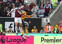 Burnley's Charlie Taylor and Wolverhampton Wanderers' Helder Costa<br /> <br /> Photographer Rachel Holborn/CameraSport<br /> <br /> The Premier League - Wolverhampton Wanderers v Burnley - Sunday 16th September 2018 - Molineux - Wolverhampton<br /> <br /> World Copyright &copy; 2018 CameraSport. All rights reserved. 43 Linden Ave. Countesthorpe. Leicester. England. LE8 5PG - Tel: +44 (0) 116 277 4147 - admin@camerasport.com - www.camerasport.com